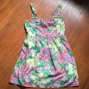 Lilly Pulitzer 14 ruffle collar sleeveless dress